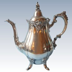 Wallace Baroque Vintage Silver Plated Hot Water Coffee Pot 282