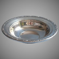 Classic Nuts Candy Bowl Silver Plated On Copper Pierced Fisher Holiday