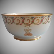Lenox George Washington Monogram Bowl Vintage Porcelain 1982