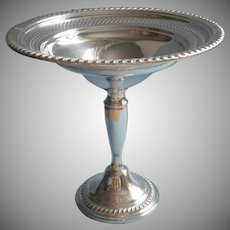 Classic Sterling Silver Pedestal Candy Compote Vintage Empire Excellent Condition