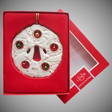 Lenox Ornament Jolly Jingle Wreath Annual 2012 Christmas Box