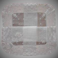 Fine Hankie Vintage Unused Burmel Lace Wedding Worthy Handkerchief