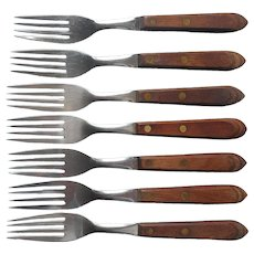 Town and Country Washington Forge 7 Dinner Forks Flatware Vintage Midcentury