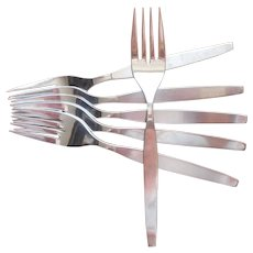 Frostfire Salad Forks Vintage Stainless Steel Oneida Community