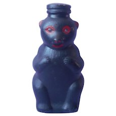 Coin Bank Glass Snow Crest Beverages Bear Painted Black Red