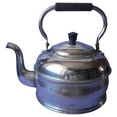 Huge 1920s to 1940s Revere Tea Kettle Vintage Kitchen Goose Neck Spout Wood Handle