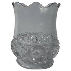 Antique Spooner EAPG Pressed Glass Bulls Eye Bullseye