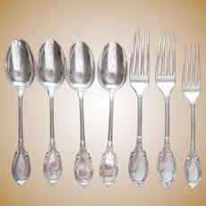 Gorham 1866 Roman Antique Silver Plated Forks Spoons Monogram D or U