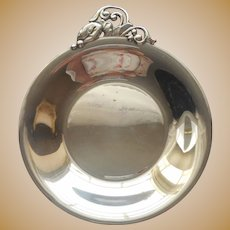 1950s Danish Silver Plated Hostess Dish Nuts Candy Vintage