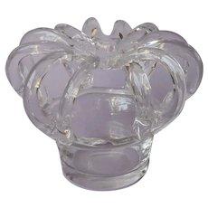 Crown Flower Arrangement Frog Blown Glass Vintage Arranger