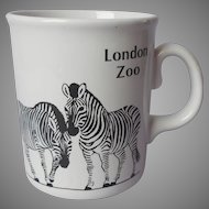 London Zoo Zebras Zebra Mug Vintage Black White