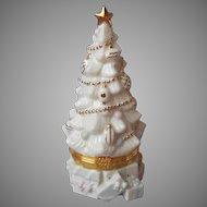 Lenox Treasures Gold Club Christmas Tree Treasure Box