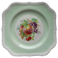Johnson Brothers England Square Fruit Salad Plate Green Vintage