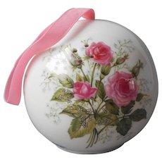Pomander Ball China Pink Roses Vintage Japan Porcelain