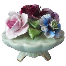 English Bone China Bouquet Radnor Vintage Flower Bowl Arrangement