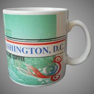 Washington D.C. 1998 Starbucks 16 Ounce Mug Cities Series Vintage