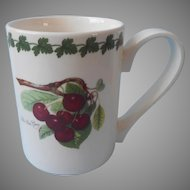 Portmeirion Mug Late Duke Cherry Garland Laurel Band Rim