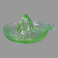 Depression Glass Reamer Green Smaller Size Vintage