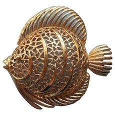 Monet Fish Pin Vintage Fun Summer Jewelry