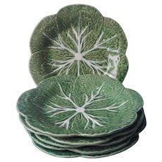 Bordallo Pinheiro Cabbage Leaf Plates Set Williams Sonoma 1993 Vintage