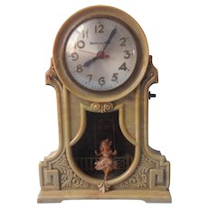 Mastercrafters Girls In Swing Lighted Novelty Clock Vintage Cord Is Shot