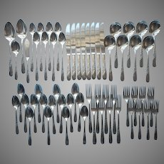Endearable 1953 Silver Plated Flatware Service For 8 Oneida 60 Pieces