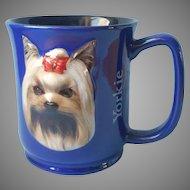 Yorkie Mug Paw Prints By Encore 3D Cobalt Blue