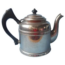 Rome Metal Ware Antique Teapot Nickle Plated Copper 48 Ounce