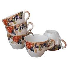 Maddock Majestic Imari Colors 5 Demitasse Cups Antique China