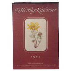 12 Botanical Prints From Vintage European 1954 Calendar Elsa Felsko