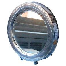 Antique Silver Plated Round Big Frame Mirror Insert
