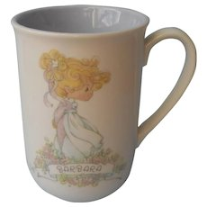 Barbara Name On Precious Moments Mug 1989 Vintage Very Sweet