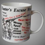 Mug Hunter's Excuse Vintage Humorous