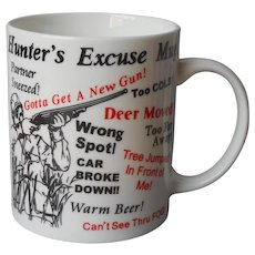 Mug Hunter's Excuse Vintage Humorous