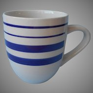 Royal Norfolk Mug Blue Stripes On Off White