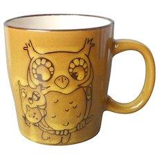 Owls Mama Baby Owl Vintage Mug