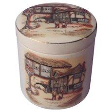 English Marmalade Jar Sandland Ware Vintage 1930s Pottery Oxford