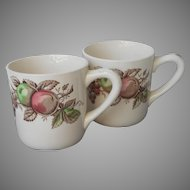 Johnson Brothers Harvest Time 2 Mugs Vintage
