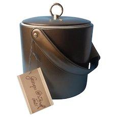 Georges Briard Ice Bucket Vintage Unused Original Tag Olive Green