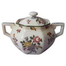 Royal Doulton Old Leeds Sprays Sugar Bowl Antique 1912 China