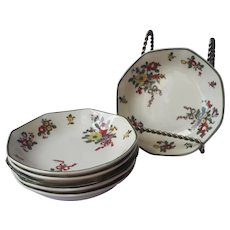 Royal Doulton Old Leeds Sprays Fruit Sauce Bowls Antique 1912 China