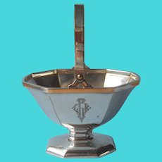 Bonbon Basket ca 1920 Silver Plated Antique Monogram L.K.G.