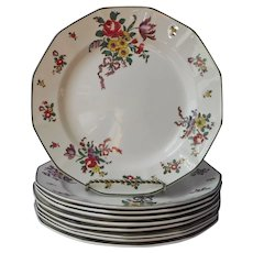 Royal Doulton Old Leeds Sprays Dinner Plates Antique 1912 China