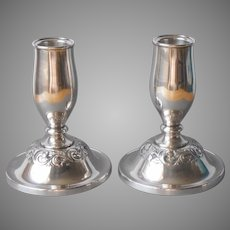 Towle Sterling Silver Candlesticks Vintage 1970s Pair