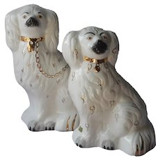 Beswick English Staffordshire China Spaniel Mantel Dogs Original Labels Vintage