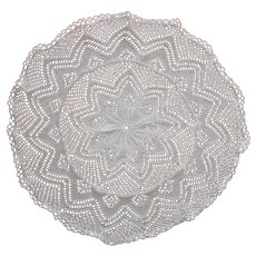 Knitted Lace Antique Centerpiece Doily
