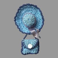 Vintage 1920s to 1940s Pin Crocheted Hat Purse Novelty