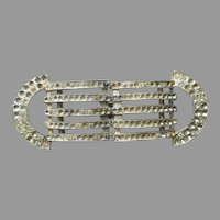 Art Deco Buckle Vintage 1930s Pot Metal Rhinestones 2 Piece TLC