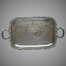 Oneida Silver Plated Tea Set Or Serving Tray Handles Vintage A Bit Worn