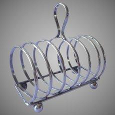 Vintage Toast Rack Slanted Angle Alpaca Silver